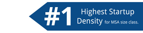 highest startup density