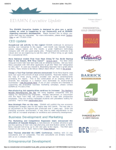 EDAWN Executive Update May 2015